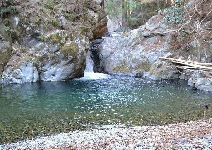 桐生川にあった滝