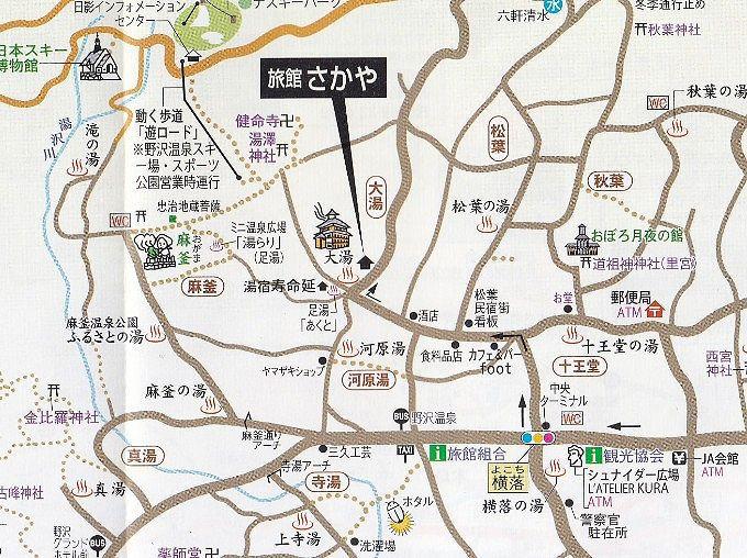 旅館さかやの場所がわかる地図