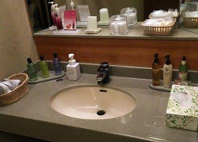 洗面台と色々なアメニティ