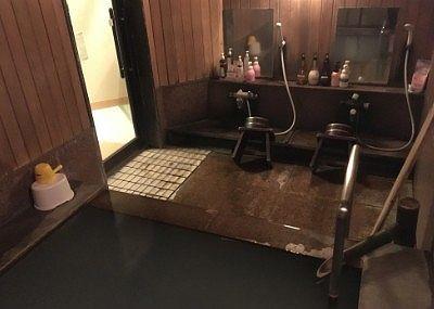 貸し切り風呂の洗い場の様子
