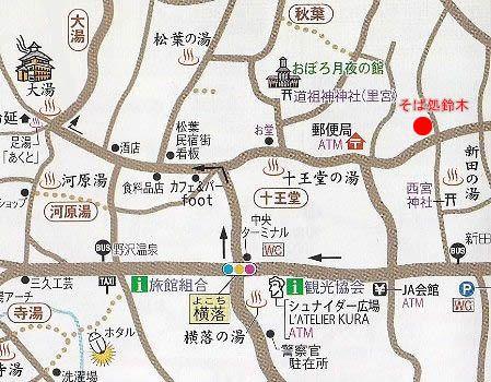 そば処鈴木の地図
