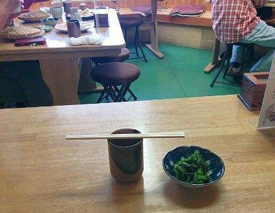 野沢菜とお茶