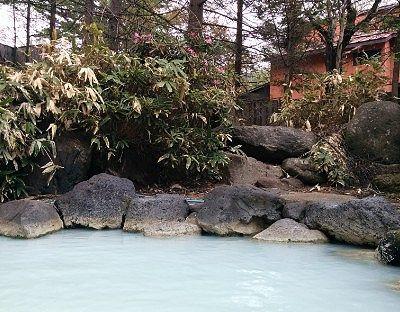 露天風呂から見えた景色