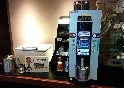 セルフのコーヒーマシン