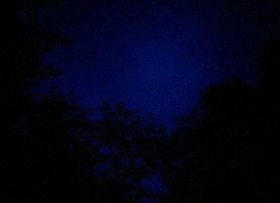 露天風呂から見た夜の空