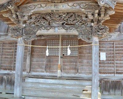 拝殿正面の様子