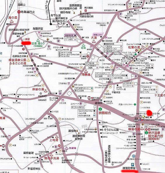麻釜近くの駐車場マップ
