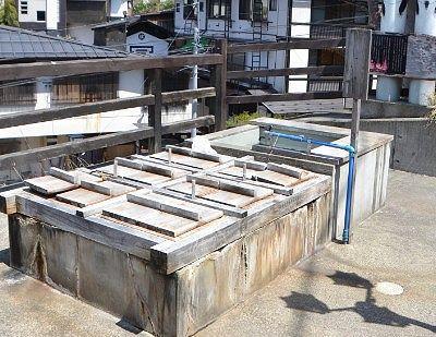 ミニ温泉広場足湯ゆらりの茹で釜