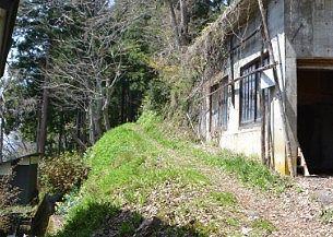 稲荷神社へ上る山道の様子