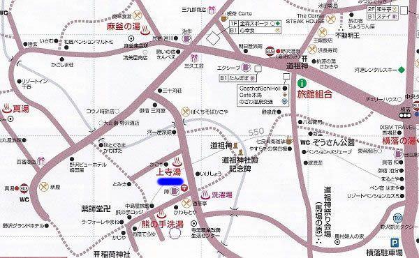 上寺湯周辺地図