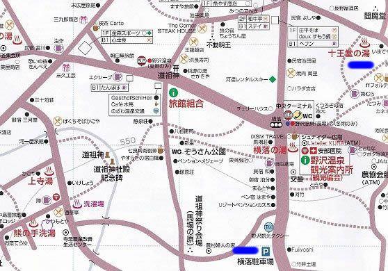 十王堂近くの駐車場マップ