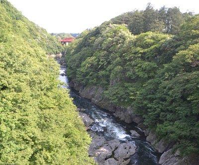 高津戸橋方面の景色
