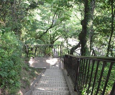 川の畔まで行ける遊歩道