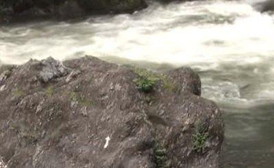 高津戸峡の激流