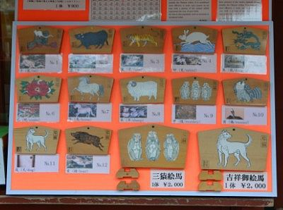 日光東照宮十二支の絵馬