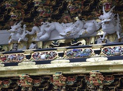 陽明門の数々の彫刻