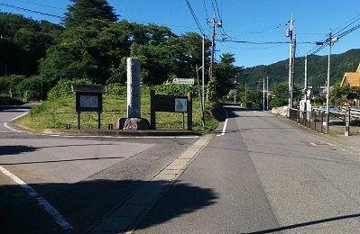 崇禅寺参道への分かれ道