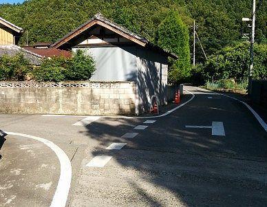 白瀧神社に向かう分かれ道