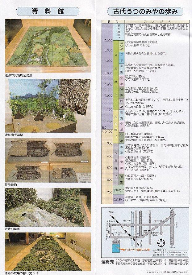 うつのみや遺跡の広場パンフレット2