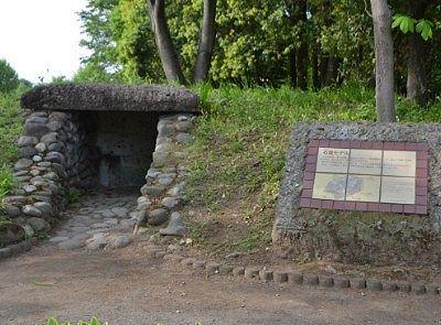 古墳の石室の再現