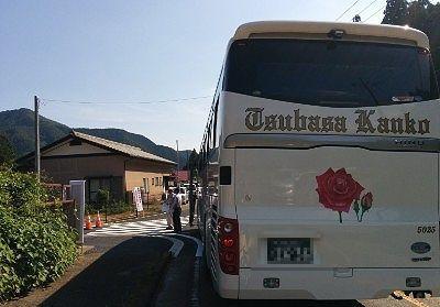 花火大会会場前のシャトルバス