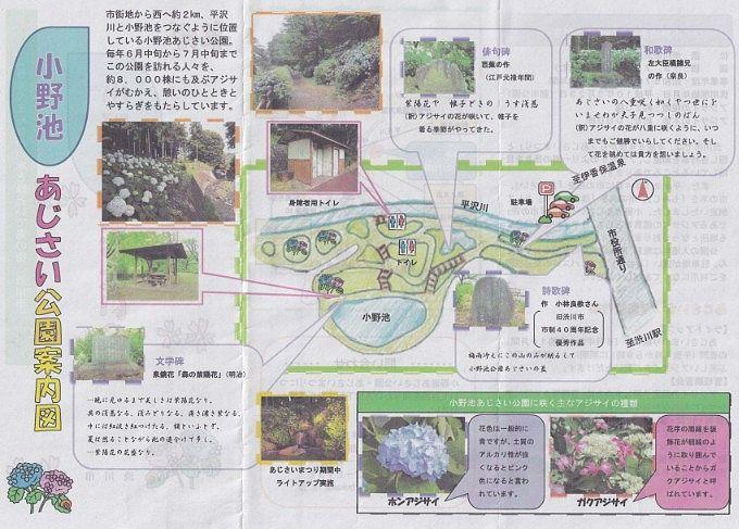 小野池あじさい公園パンフレット2