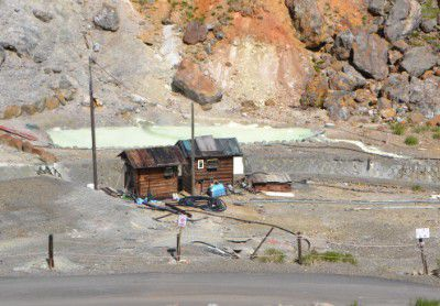 万座温泉湯畑と湯小屋