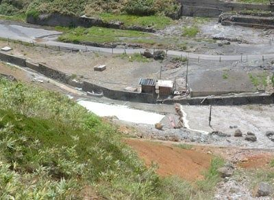 展望台から見た湯畑の景色
