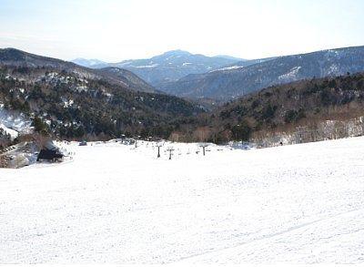 冬のスキー場からの絶景