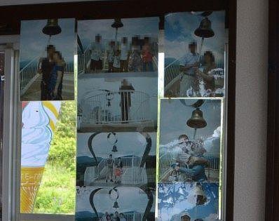 愛妻の鐘の記念写真の数々