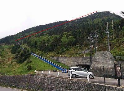 横田山スカイレーターと横手山ペアリフト