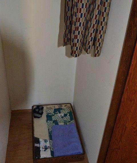 ゆけむり館客室にあった浴衣やアメニティ