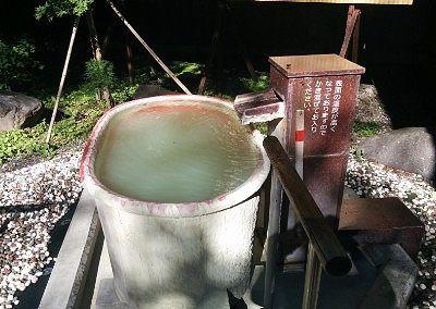 壺湯の様子