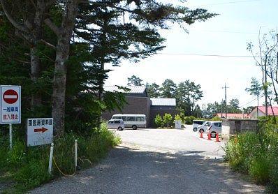 重監房資料館前の無料駐車場