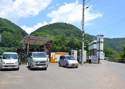 上州湯ノ湖脇にあった駐車場