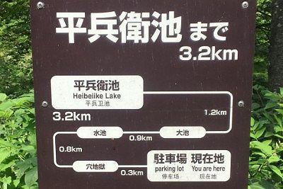 平兵衛池までの距離数