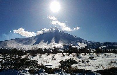 冬の浅間山の景色