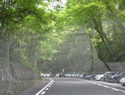 白糸の滝駐車場の様子