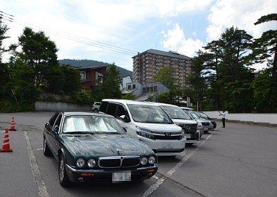 ホテル櫻井の駐車場の様子