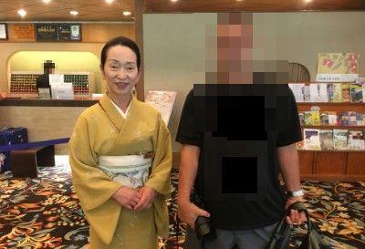 ホテル櫻井女将さんと記念撮影