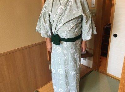 ホテル櫻井の浴衣の色と柄