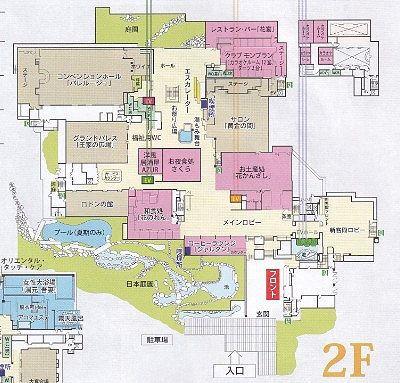 2階の館内マップ