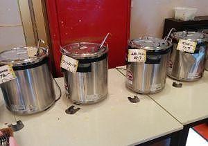 和牛カレー、コーンスープ、高原トマトのポトフ、オニオンスープ