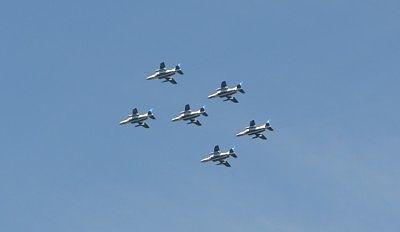 ブルーインパルス訓練飛行