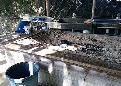 炭火焼き台の様子