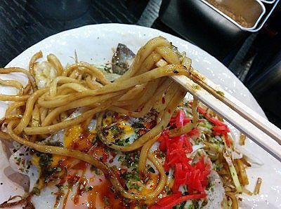 生麺ソース焼きそばの麺の様子