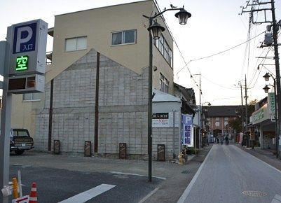 富岡製糸場真ん前の駐車場