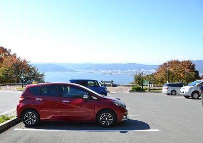 立石公園駐車場の様子