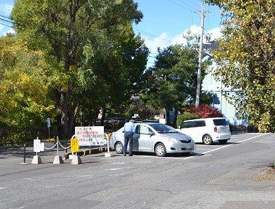 旧開智学校前の無料駐車場