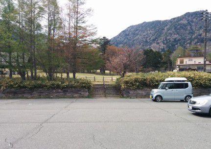 駐車場とテントサイト